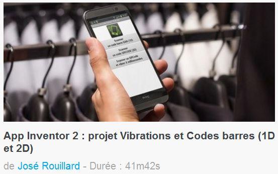 Cours et tutoriels App Inventor de José Rouillard